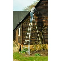 Henchman Standard Duty Tripod 3 Leg Adjustable 16ft Ladder